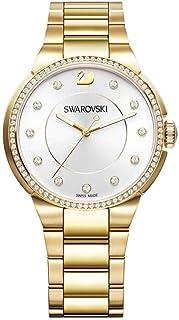 ساعة يد كوارتز للنساء من سواروفسكي، عرض انالوج وسوار ستانلس ستيل 5213729