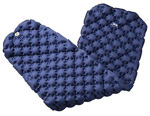 WellaX Ultralight Air Sleeping Pad - Inflatable Camping Mat for Backpacking, Traveling and Hiking Air Cell Design for Better Stability & Support -Plus Repair Kit - Blue