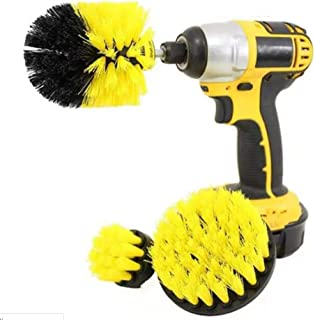 Drill Brush Attachments - Bathroom Kitchen Cleaning Supplies Set - Tile Grout Baseboard Tub & Shower Hard Water Cleaner Sp...