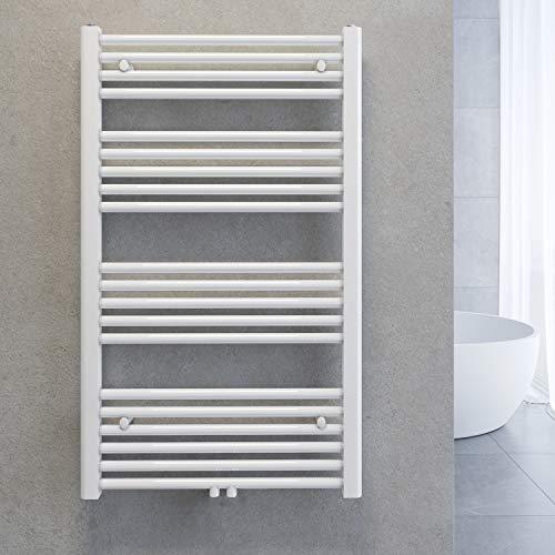 SONNI Handtuchtrockner Heizkörper Bad Mittelanschluss Handtuchwärmer Badheizkörper Weiß Gerade 60 * 100cm