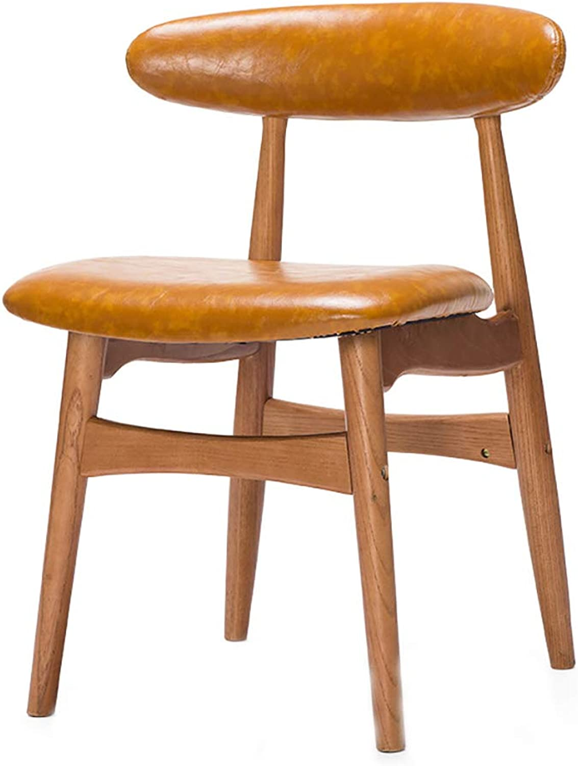 Dining Chair Solid Wood Chair Office Chair Desk Chair Simple Modern Coffee Shop Chair Nordic Retro Chair (color   C)