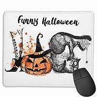 マウスパッド オフィス 最適 かぼちゃ 猫 手描き ハロウィン 個性 ゲーミング 光学式マウス対応 防水性 耐久性 滑り止め 多機能 標準サイズ25cm×30cm