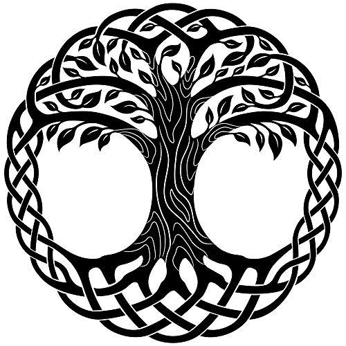 5D DIY Diamond Painting Kits Knot Celtic Tree Life Round Black Floral Knot Celtic Tree Life Round Black FloraFull Drill Painting Arts Craft for Home Wall Decor Full Drill Cross Stitch Gift 14X20 Inch