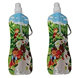 Fresh Baby 2 Pack Collapsible Water Bottle, Waterfall Motif, 10 Ounce