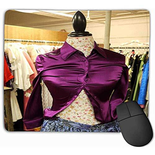 Muismat Retail Tweedehands Kleding Paars Rechthoek Rubber Mousepad 30X25CM