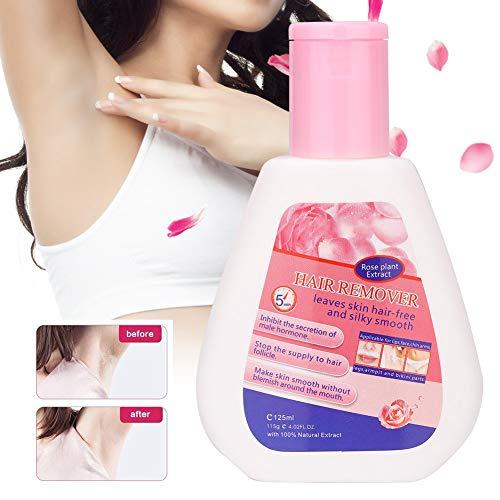 115g Cremas Depilatorias, Crema Depilatoria Sin Dolor de Larga Duración, para Depilación Privada de Axilas de Barba Facial (rosa)