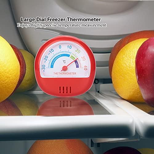 Eosnow Cocina, Refrigerador Portátil Puntero de Esfera Grande para Hotel para Almacenamiento en frío(Red, 12)