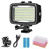 Neewer Unterwater Licht Tauchlicht 60 LED Dimmbare wasserdichte LED-Videoleuchte 40m für GoPro Hero...