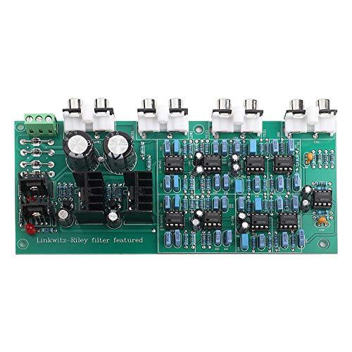 Scheda di divisione della frequenza Vikye, scheda di divisione della frequenza a 6 canali elettronica a 3 vie 310HZ/3.1KHZ con filtro Linkwitz-Riley