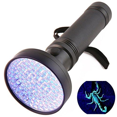 Ulanda UV Schwarzlicht Taschenlampe mit 100 LEDs, Haustiere Urin-Detektor für eingetrocknete Flecken Ihrer Hunde, Katzen und Nagetiere auf Teppichen, Vorhänge, Gardinen, Wellenlänge 395nm