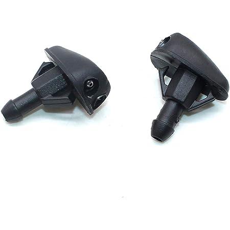 Fliyeong Scheibenwischerdüse Scheibenwaschdüse Spritzdüse Wassersprühdüsen Glass Sprinkler Teile 2 Stück Schwarz Auto