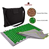Yangtastic Acupressure Mat Made From Organic Coconut Fibre and Cotton Linen Cover Complete