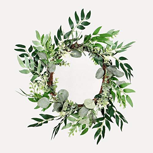Seed eucalyptus leaf series garland artificial flower door hanging horseshoe-shaped wall hanging door lintel fake flower