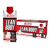 Lean Body Ready-to-Drink Strawberry Protein Shake, 40g Protein, Whey Blend, 0 Sugar, Gluten Free, 22 Vitamins & Minerals, (Recyclable Carton & Lid - Pack of 12) LABRADA