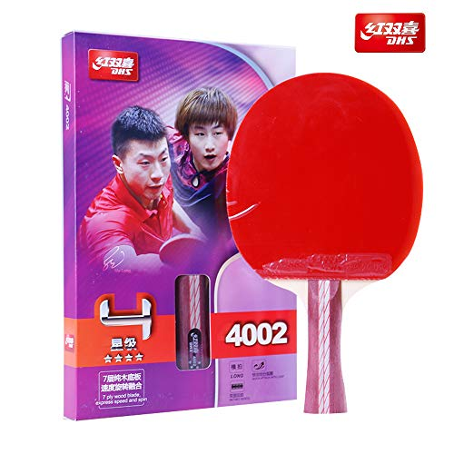 DHS Table Tennis Racket 4002, Ping Pong Paddle, Table Tennis Racquets - Shakehand with LANDSON Rubber Protector