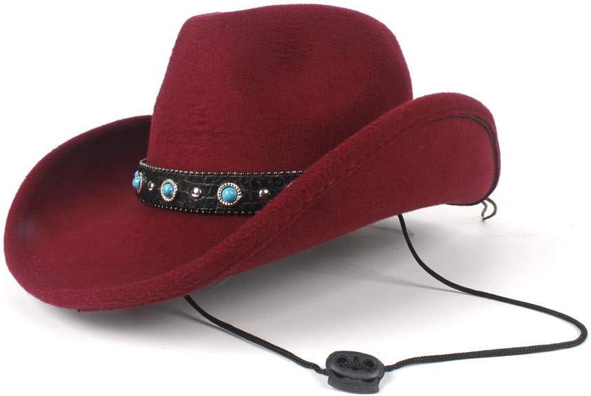 Women Men Unisex Wool Hollow Western for Attention brand Over item handling Cowboy Hat Ro Gentleman