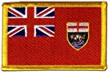 Flaggen Aufnäher Kanada Manitoba Fahne Patch + gratis
