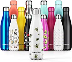 Proworks Botella de Agua Deportiva de Acero Inoxidable | Cantimplora Termo con Doble Aislamiento para 12 Horas de Bebida...