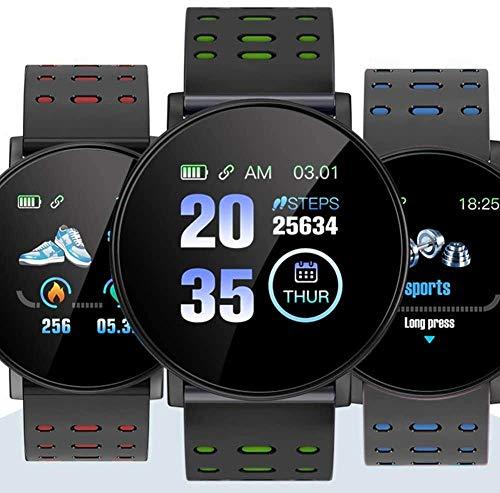 hwbq Monitor de actividad impermeable IP67, monitor de actividad inteligente, monitor de ritmo cardíaco, pantalla táctil completa