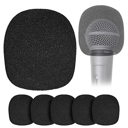 YOUSHARES Cubierta de Esponja para Micrófono Globular - Paquete de Seis Piezas Fundas de Esponja para Micrófono de Mano para Reducir el Ruido del Viento y las Explosivas