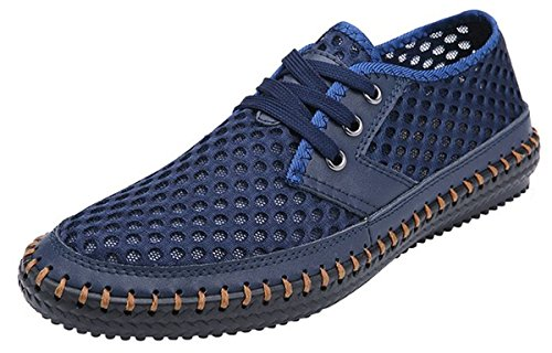 MIXSNOW Men's Poseidon Slip-On Loafers Water Shoes Casual Walking Shoes Dark Blue46
