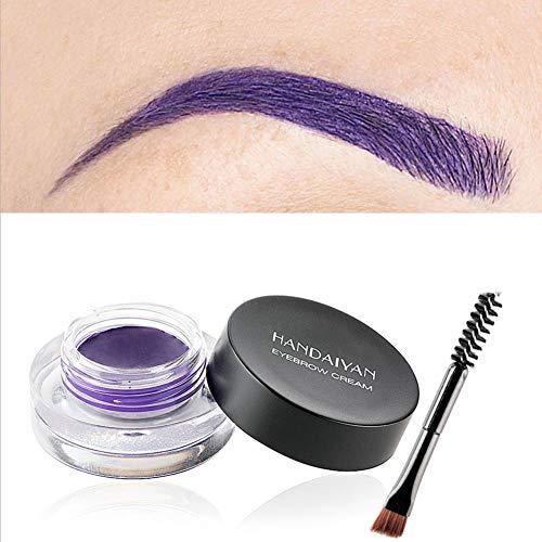 Coloré sourcils sourcils teinture maquillage longue durée définition des sourcils Enhancer crème pinceau Kit 3D Natural Eye Brow Gel multifonction Eyeliner Gel étanche professionnel 12 couleurs