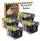 D&C 20set Druckerpatronen kompatibel für Brother LC-980/1100 DCP-185C,DCP-385C,DCP-395CN,DCP-585CW,DCP-6690CW,DCP-J615W, DCP-J715W,MFC-490CW,MFC-5490CN,MFC-5895CW,MFC-6890CDW,MFC-795CW,MFC-990CW