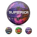 Balón Baloncesto Pelota Basketball Bebe Ball Infantil Niño Adultos Jóvenes Balon Basquet - Baloncesto Ideal para los niños y jouvenes y Adultos para Entrenar y Jugar - Tamaño 7 (7, Superior Universe)