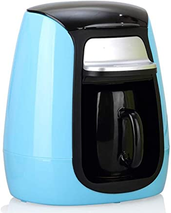 DQMBJ Coffee Machine Fully Automatic Portable Coffee Machine Hourglass Mini Single Cup Coffee Pot Tea Making Machine (Color : Blue)