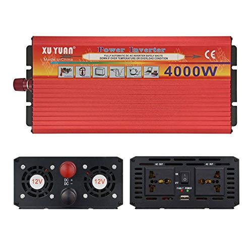 HKPLDE 4000W Inversor De Corriente Convertidor 12V A 110V Transformador con 2 AC Salidas para Refrigerador Pequeño De Barco De Camión RV, Microondas-24V