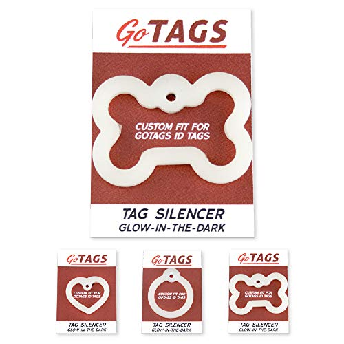GoTags Dog Tag Silencers, Glow in The Dark Silencer to Quiet Noisy Pet...