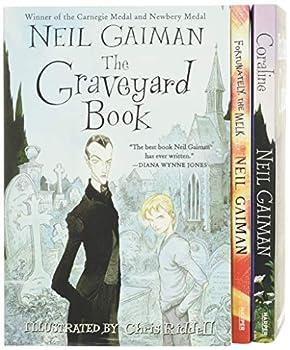 Neil Gaiman/Chris Riddell 3-Book Box Set  Coraline  The Graveyard Book  Fortunately the Milk
