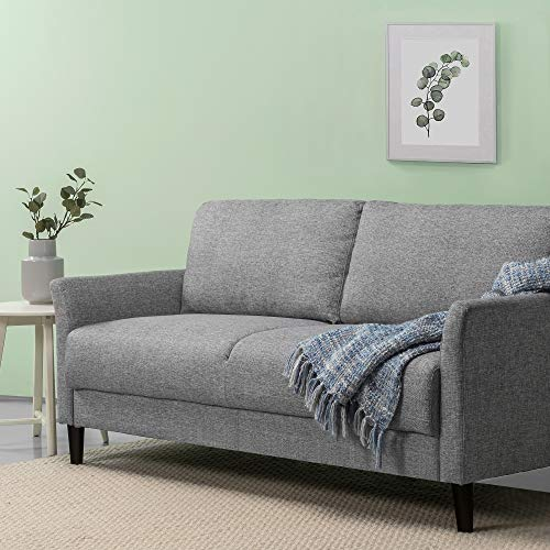 Zinus Jackie Classic Upholstered 71 Inch Sofa / Living Room Couch, Soft Grey