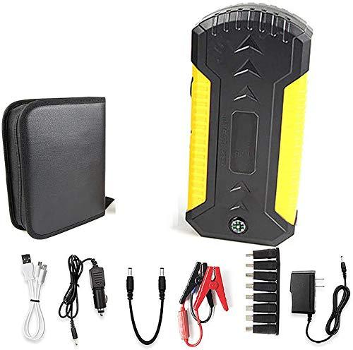 Metdek Cargador de batería de polímero de litio de 12 V, cargador de repuesto para coche y arrancador portátil de 8000 mAh y 600 A y cuatro dispositivos USB