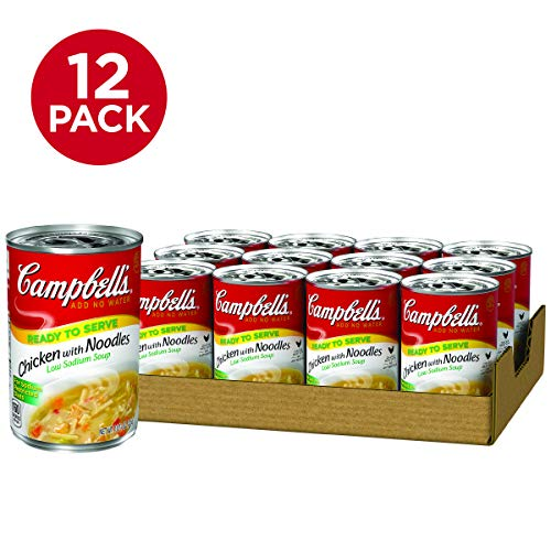 Campbell's Low Sodium Soup, Chicken with Noodles, 10.75 oz (Pack of 12)