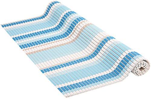 Venilia Weichschaummatte Venisoft Scott Rutschfester Bodenbelag Duschmatte Anti-Rutschmatte, PVC-Polyester, Mehrfarbig, 65 x 200 cm, 54724