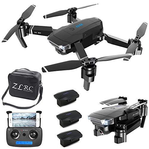 YAYY FPV RC Mini Drohne faltbar Drohne mit Kamera 4K HD WiFi FPV Live Übertragung, App Ferngesteuerte RC Quadrocopter,RC-Drohnen-Kit (Batterie × 3),Mini Drohne faltbar,Kopflos-Modus,Höhenhaltung