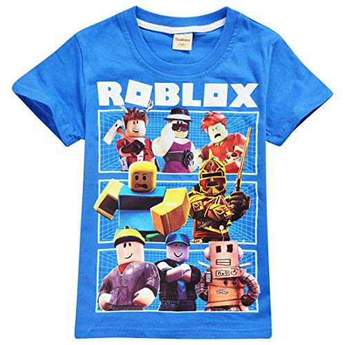 Kids Boys Roblox Fútbol Juegos Family Gaming Team Tops tee (Azul 3, 7-8 años)