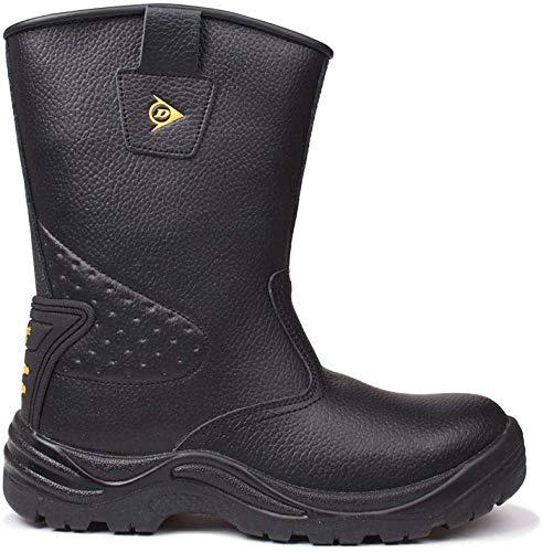 Dunlop Safety Herren Rigger Arbeitsstiefel Wasserdicht Stiefel Sicherheit Schuhe Schwarz 8 (42)