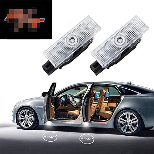 Eastfly Car Door LED Logo for Dodge Challenger Projector Ghost Shadow Lights, Entry Welcome Lamp Logo Light, LED Courtesy Step Lights Ground Lamp Kit Replacement (3. Letter r&t Emblem for Challenger)