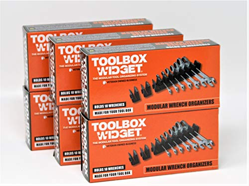 Toolbox Widget - Modular Wrench Organizer for Tool Drawer Storage   Magnetic Wrench Holder   Tool box Kit for Professional & DIY Mechanics   Organize Your Tools For Fast Accountability - 1 Kit