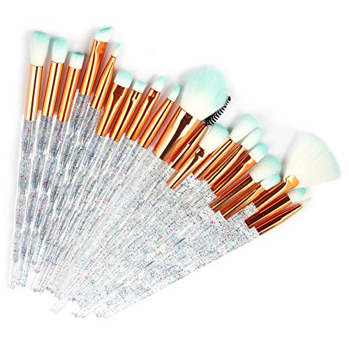 Miaouyo Make Up Pinsel Set Einhorn 20pcs Professionell Pinselset mit Gesichtpinsel Lidschatten...