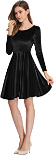 Women's Velvet A-Line Swing Party Dress