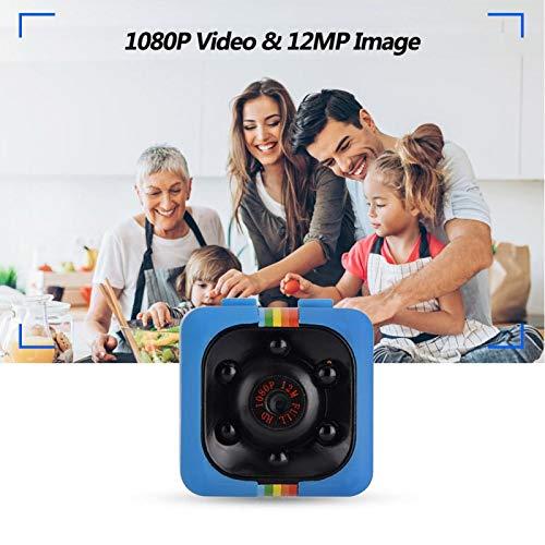 DAUERHAFT Cámara 1080P Mini cámara de Seguridad para el hogar Vista Nocturna por Infrarrojos, para grabación de Deportes al Aire Libre, para grabación de Datos de Coche(Blue)