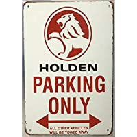 駐車場のみヴィンテージメタルティンサインの装飾ガレージパブホームドアヴィンテージウォールアートポスタープラーク-20x30cm