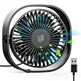 RATEL USB Table Fan, 12.5 cm Mini Desk fan Use with 1.2 meters Cable, Portable & Personal for Home & Office Quiet and Powerful, Cools You Down in Hot Summer, Black