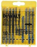 DEWALT DT2294-QZ - Juego de 10 hojas de sierra calar con 5 para madera y 5 para metal DT2165 x 2, DT2050 x 2, DT2163 x 2, DT2177 x 2, DT2160 x 2 (Equivalentes Bosch T101B, T119BO, T127D, T111C, T118A)