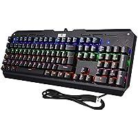 VicTsing Teclado Mecánico Gaming, 105 Teclas y Switches Blue, con Cable y 6 Colores RGB Retroiluminado, Anti-Ghosting-Versión Español