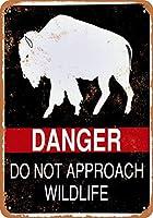 金属看板危険は野生生物に接近しない屋外屋内壁パネル住宅装飾