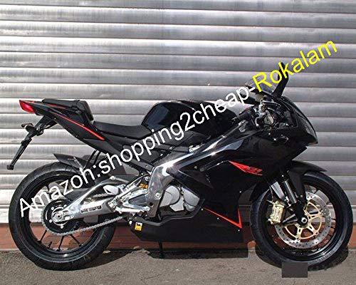 Carenado De Motocicleta Negro RS125 Para Aprilia RS-125 2006-2011 RS125 R S 125 07 08 09 10 11 RS 125 Moto Kit De Repuestos para Carrocería (Moldeado Por Inyección)